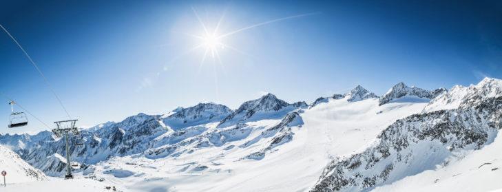 Awarded ski areas also include the area on the Stubai Glacier.