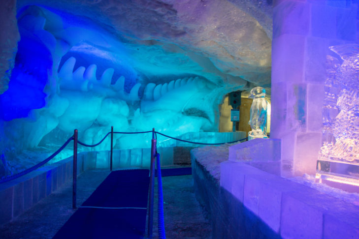 In the ice pavilion, guests will be let in on the secrets of the glacier world.