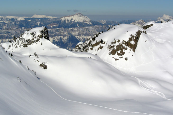 Open terrain for ski tours and deep snow runs.