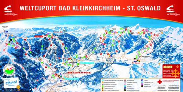 Bad Kleinkirchheim/St. Oswald ski area map.