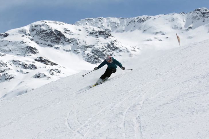 The pistes in Bormio are prefect for carving.