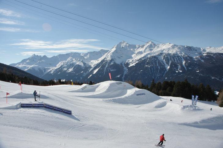Kicker in Bormio snow park.