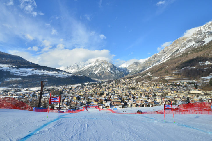 View from the top of the World Cup run in Bormio.