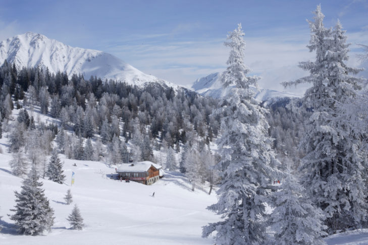 Refreshment is available in the peaceful huts in Val d'Isarco.