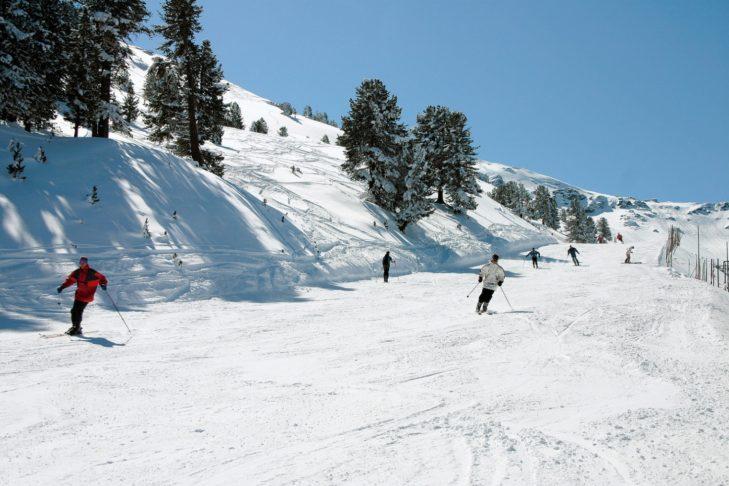 Perfect pistes in the Glungezer ski area.