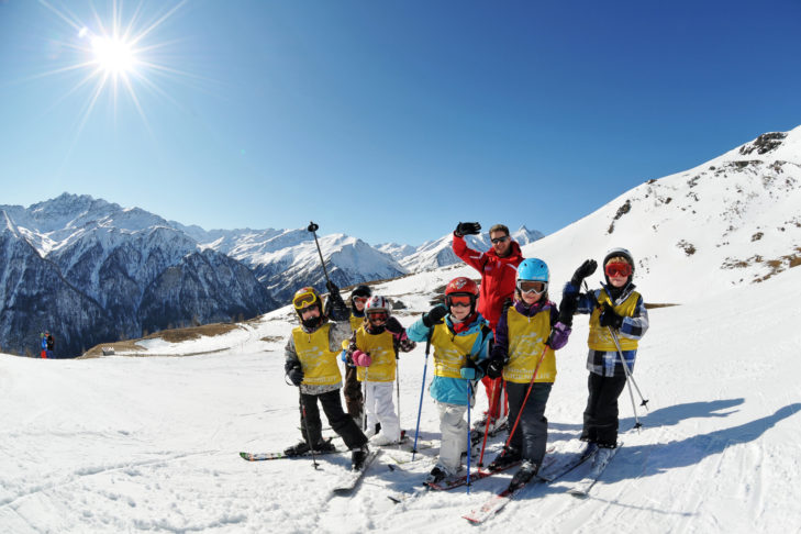 Children are well looked after in one of the many ski schools.