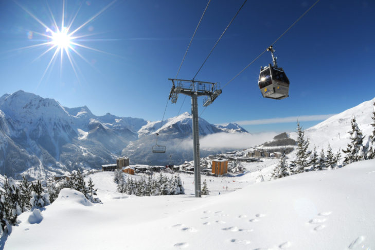 The Orcières ski area benefits from Mediterranean influences on the weather.