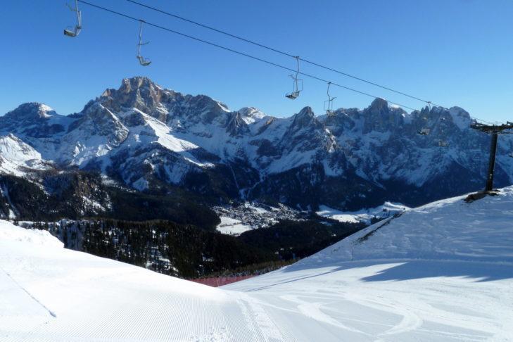 Dolomite scenery: the San Martino di Castrozza ski area.