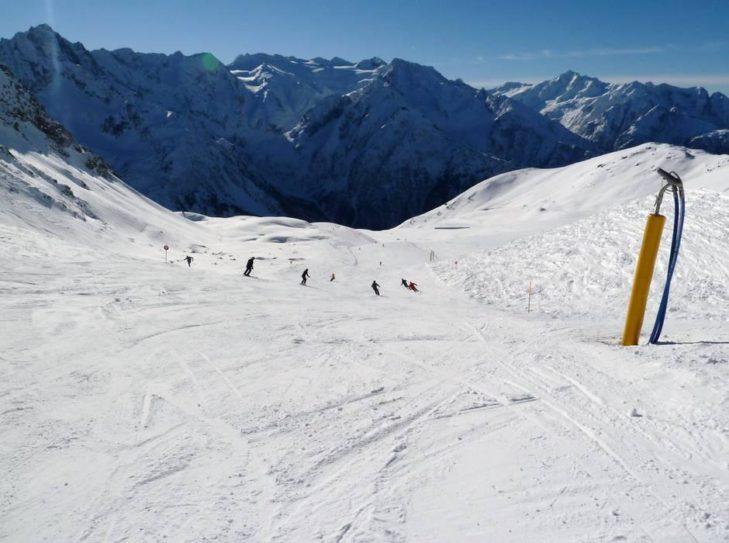 Mountain panorama around the Adamello ski area.