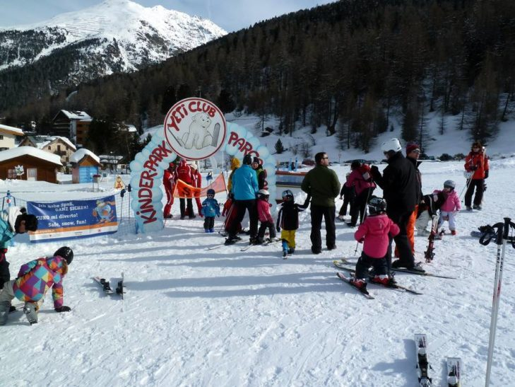 Excellent child care in the Sulden ski area.