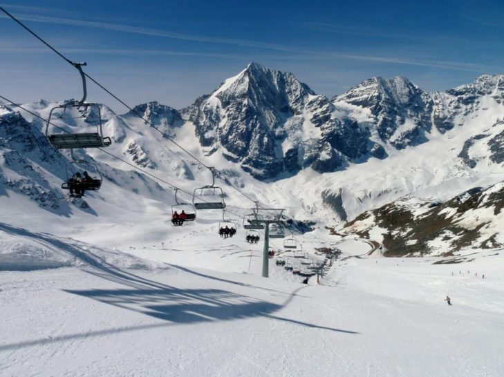 Great mountain panoramas in the Sulden ski area.
