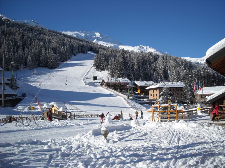 Piste area close to the valley in Santa Caterina.
