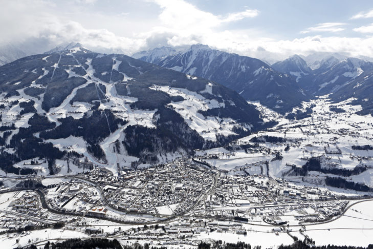 Aerial view of Schladming.