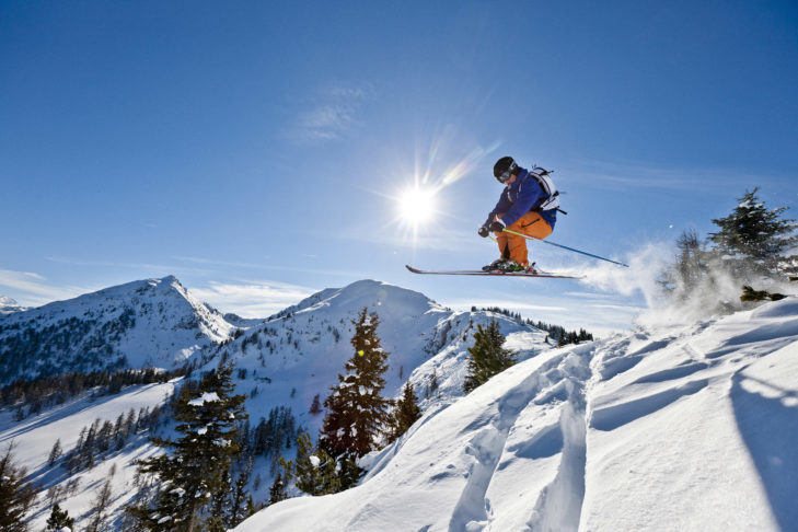 Good snow conditions guarantee fun on and off the piste.