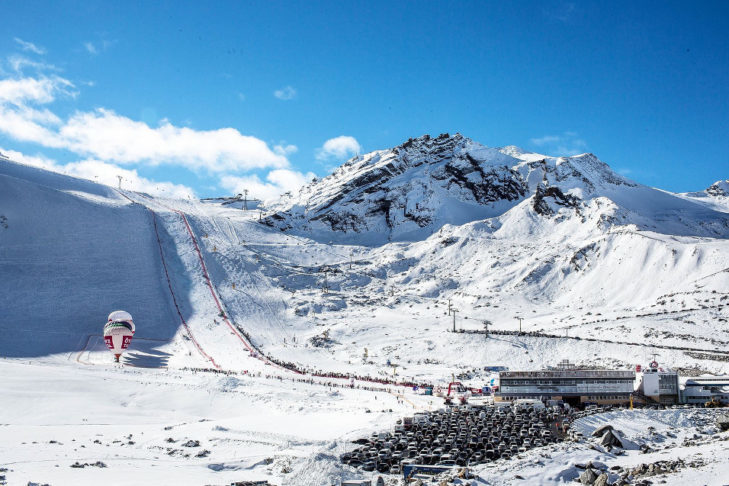The world cup slopes are breathtakingly steep.