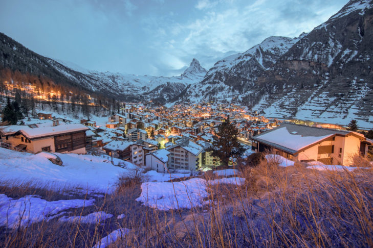 Those travelling to Zermatt should expect to find this gorgeous view of the resort.