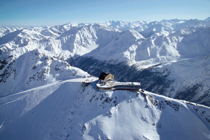 The Hotel Grawand is the highest hotel in the Alps and is perfect for a skiing weekend.