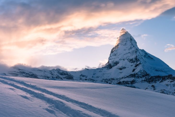Autumn skiing with a view of the Matterhorn is possible in Zermatt.