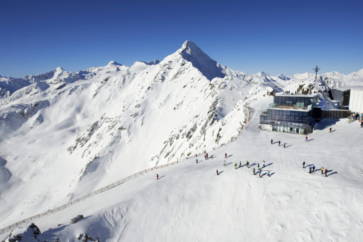 The Gaislachkogel in Sölden is also a wonderful place to spend your Christmas skiing holiday.