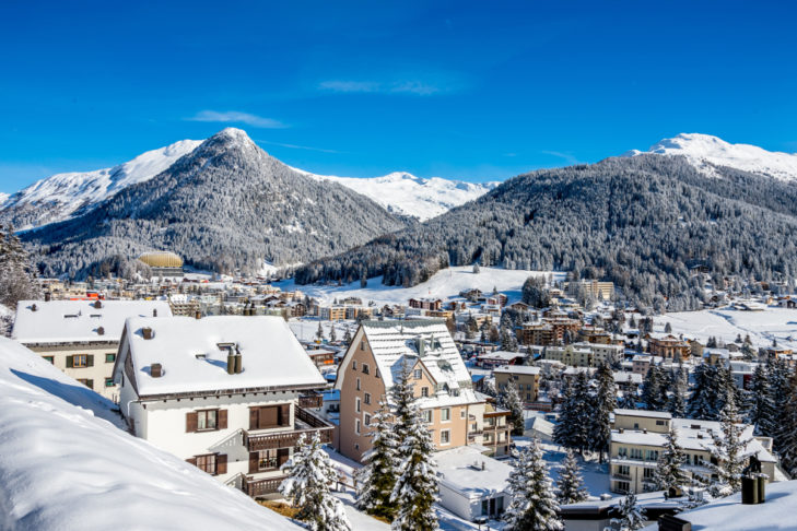Winter holidays in Switzerland - in beautiful Davos, for example.