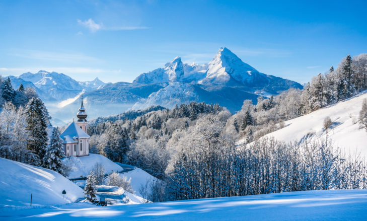 Picture-perfect imagery in the Berchtesgadener Land with the Watzmann in the background.