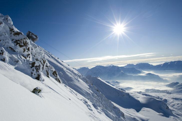Plenty of sun at Alpe d'Huez.