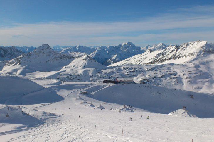"Glacier piste at the ""Mölli""."