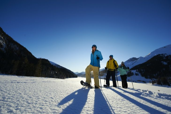 Snowshoeing in Davos-Klosters.