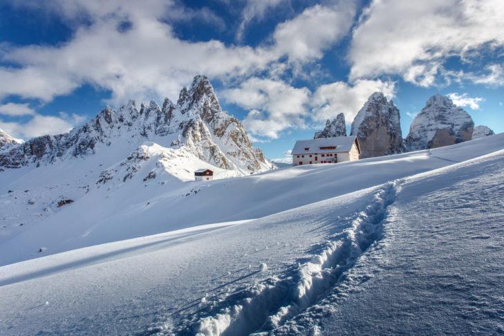 """Mountain formation """"Die Drei Zinnen"""" in the Dolomites."""