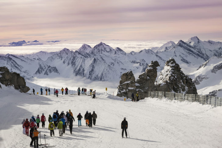 Breathtaking view from the Hintertux Glacier.