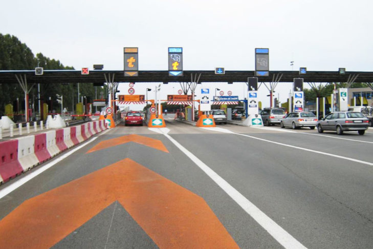 A typical toll station.
