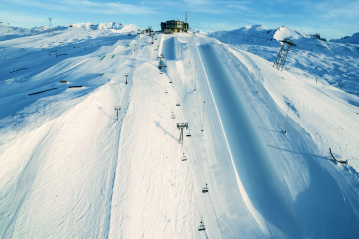 """The largest halfpipe in the world is located in the Laax ski area: """"The Big Beast""""."""