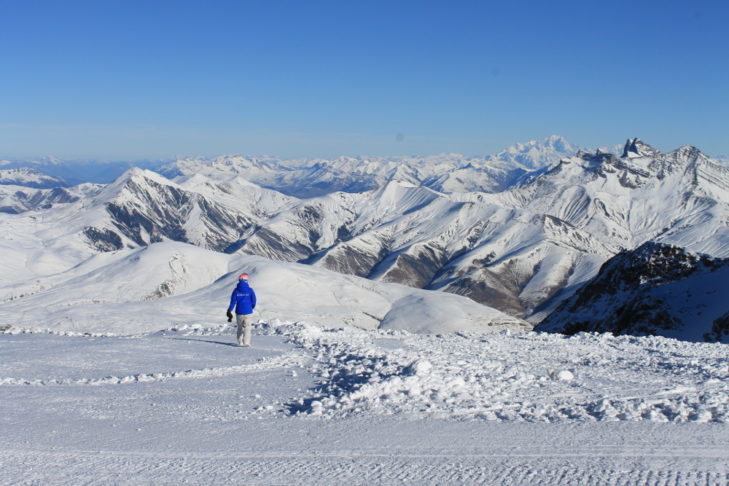 The panoramic view above Les 2 Alpes is unique.