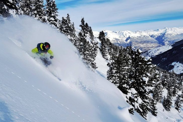 In the 4 Vallées - like here at Nendaz - you will find dreamy deep snow areas.