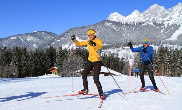 Cross-country skiing around Ramsau am Dachstein.