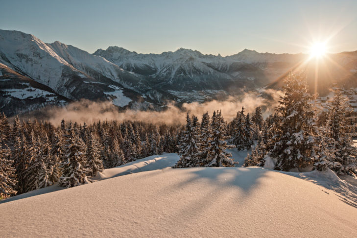 Beautiful winter landscape on the Belalp.