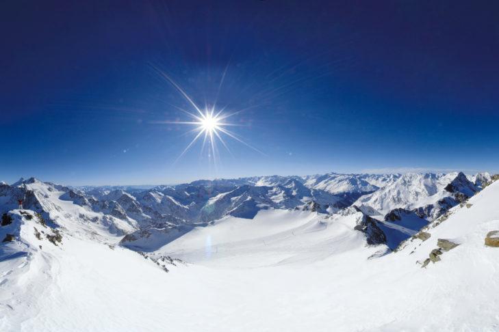 Glacier panorama at the Stubai Glacier.