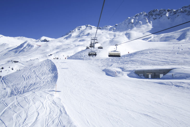 Fantastic piste in the Arosa-Lenzerheide ski area.
