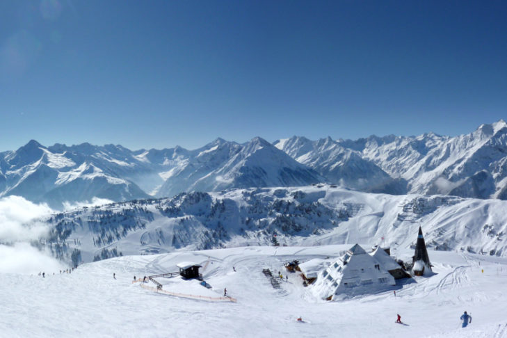 Panoramic view of the mountains in Zillertal.