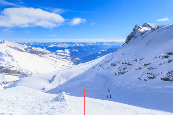 Wide views in the Laax ski area.
