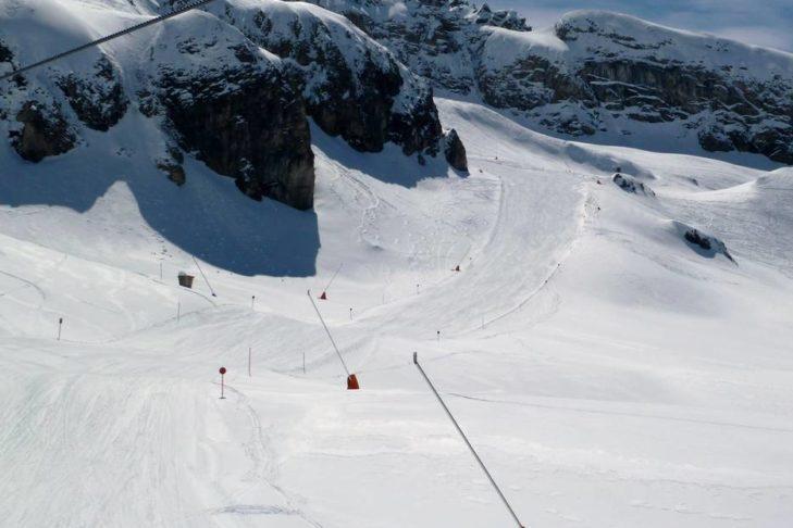 "Austria's longest downhill run: the ""Eleven"" in Ischgl."