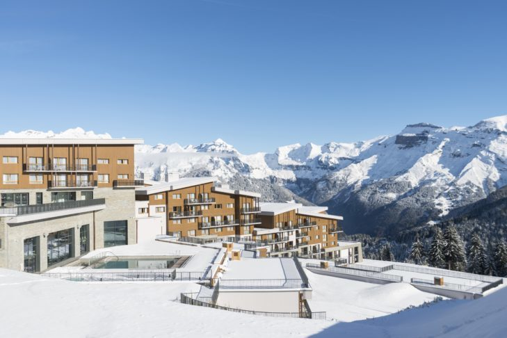 The Club Med - Grand Massif Samoëns Morillon resort, newly opened in 2017, is located directly on the slopes of the Grand Massif ski area.