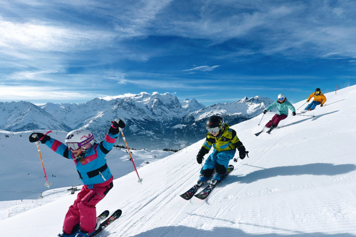 The Meiringen-Hasliberg ski area is aimed at families with children.