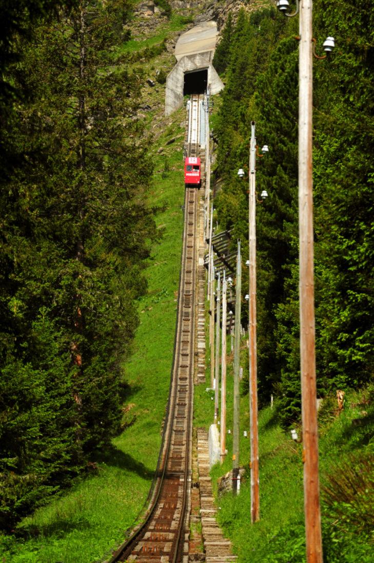 Endurance is required when climbing the Niesenbahn escape stairs.
