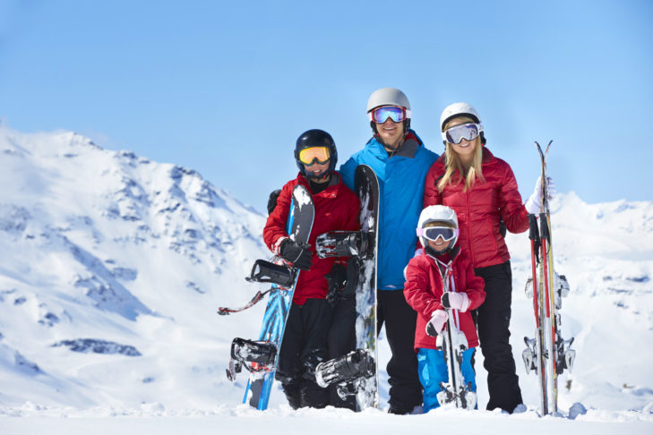 Package holidays offer skiing fun for the whole family.