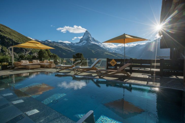 If that's not a pool with a view at the Hotel Riffelalp, we don't know what is!
