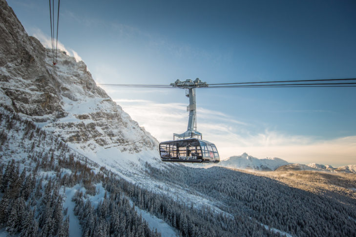 Record holder: the Zugspitze cable car.