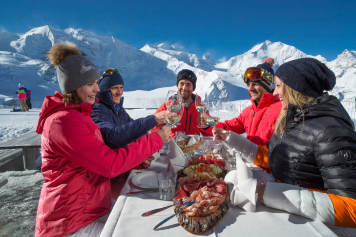 St. Moritz is a really good place to be. The delicious cheese and ham specialities are offered everywhere.