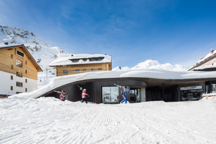 The highest concert hall in the Alps on the Arlberg provides music at lofty heights.