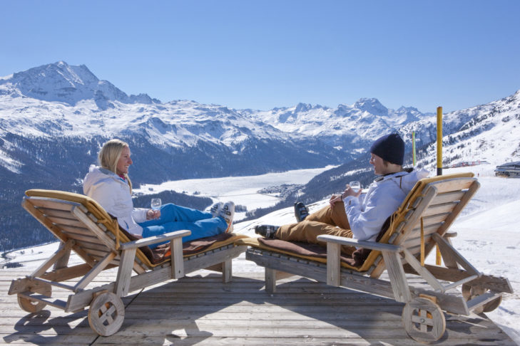 The truth: A ski holiday offers enough space for relaxation.